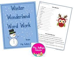 winter vocabulary words worksheet teach junkie