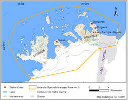 map of antarctic stations site of recently discovered new minerals protected school of