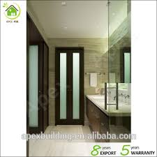walnut color frosted glass shower doors bathroom door bi fold