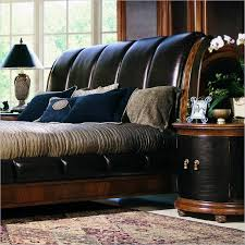 Black Leather Sleigh Bed Black Leather Sleigh Bed Home Design The Leather