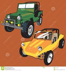 Jeep And Buggy Stock Vector Image Of Custom Green Jeep 31919092