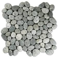 speckled pebble tile fireplace pebble tile shop