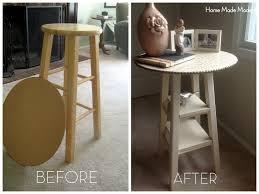 diy nightstand from bar stool design pinterest diy