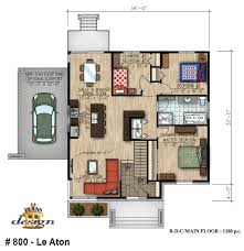 800 le aton bungalow handicapé plain pied plans design