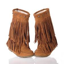 womens size 12 fringe boots size 12 boots yu boots