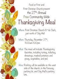 thanksgiving meal signup free meal program perishable food pantry