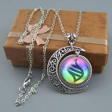 necklace pendant wholesale images Mega evolution necklace jewelry moon pendant wholesale JPG