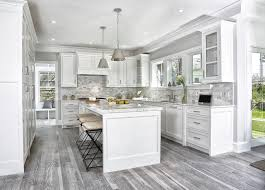 grey kitchen cabinets with brown wood floors 15 cool kitchen designs with gray floors