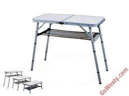 folding 4 position aluminum camp table camp kitchen pinterest