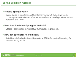 what is spring native android development with spring