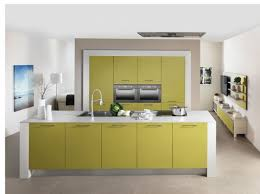 cuisine jaune et verte cuisine colorée vert olive schmidt mobiliers