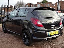vauxhall corsa black used vauxhall corsa hatchback 1 4 i 16v black edition 5dr start