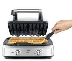 Breville 4 Slice Smart Toaster Breville 4 Slice Smart Waffle Maker Bwm604bss