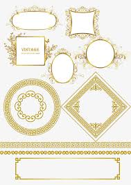 golden china pattern golden china wind pattern material golden style pattern