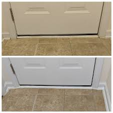 can you use magic eraser on cabinets this before and after i scrubbed the door ans baseboards