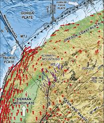 Map Of The Oregon Coast Seismogenic Deformation Between The Sierran Microplate And Oregon