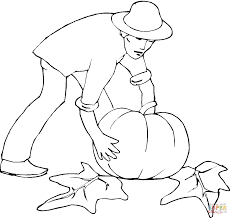 harvesting pumpkins coloring page free printable coloring pages