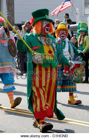 marching in st patrick u0027s day parade yonkers new york stock photo