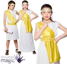 boys girls greek egyptian fancy dress costume goddess toga