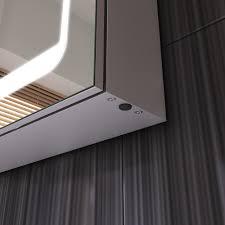 led bathroom illuminated mirror cabinet motion sensor shave socket