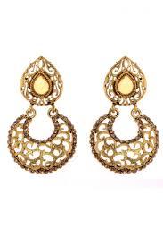 designer earrings brown color fancy alloy designer earrings from kalaniketan