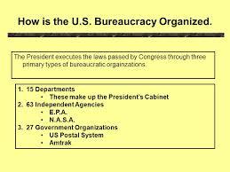 Us Cabinet Agencies Chapter 16 The Bureaucracy Ppt Online Download