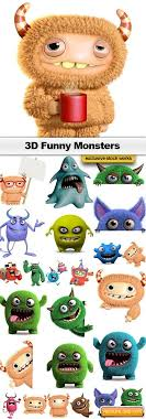 3d monsters 25x jpegs free stock image free graphic
