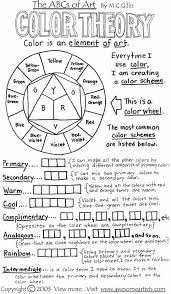 color theory worksheet click image to find more art lesson plans