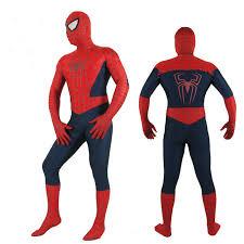 new mens spiderman cosplay costumes superhero full body