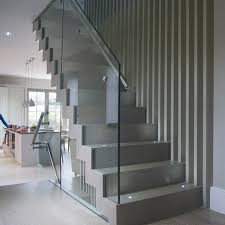 Glass Banister Uk Zig Zag Stairs Contemporary Staircase Uk Staircases London