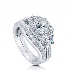 cz engagement ring sterling silver cubic zirconia cz wedding engagement rings
