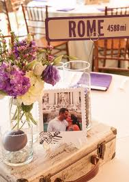 themed centerpieces for weddings travel themed wedding centerpieces