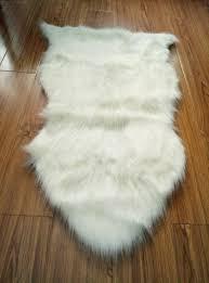 Faux Fur Sheepskin Rug White Nice Looking Faux Sheepskin Chair Cover Pad Soft Carpet