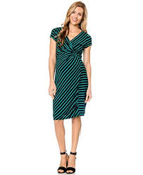 motherhood maternity striped faux wrap dress maternity women