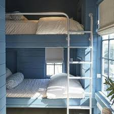 Built In Bunk Bed Bunk Beds In Front Of Windows Design Ideas