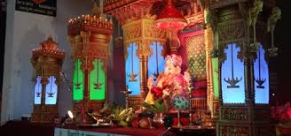 Temple Decoration Ideas For Home Eco Friendly Ganpati Makhar In Mumbai Ganesha Decoration Items