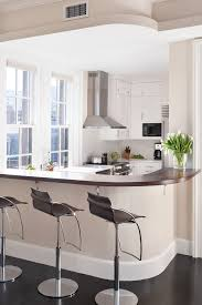curved breakfast bar kitchen transitional with white drawers white