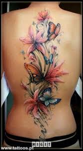 lilies butterflies back looking to cover up my tr