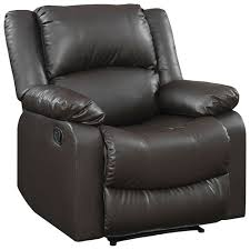 Leather Reclining Chairs Warren Contemporary Faux Leather Recliner Chair Java Recliners