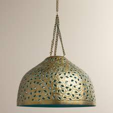 world market pendant light desiree metal bell pendant l world market