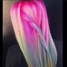 trend colors unicorn hair color trend colorful hair color trends teen vogue