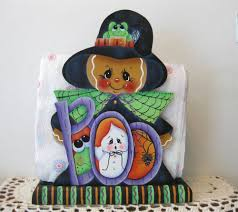 halloween witch crafts hp gingerbread halloween witch napkin holder hand painted usa