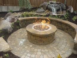 tips outdoor fire pit kits wood burning fire pit kit stone