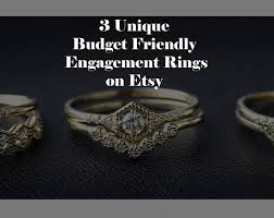 engagement rings stores 3 unique beautiful engagement ring stores on etsy