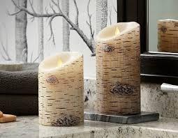 birch luminara real effect candle