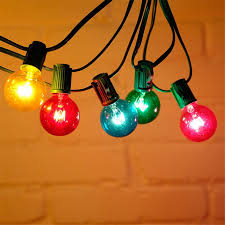 outdoor bulb string lights thrisdar g40 globe bulbs string lights with 25 multicolor bulbs