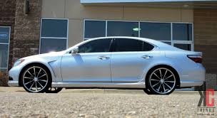 lexus custom wheels kc trends showcase 22 vossen cv1 on a lexus ls460 with a full