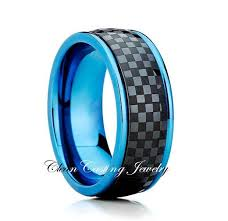 blue titanium wedding band titanium wedding band blue titanium ring titanium wedding ring