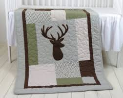 Green And Brown Crib Bedding by Deer Crib Bedding Etsy