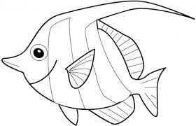 rainbow fish outline printable free coloring pages bowl free